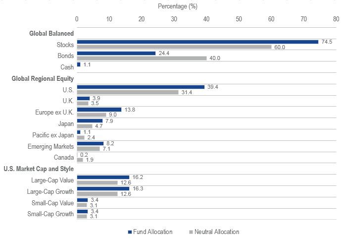 Fund allocation chart as of January 2018