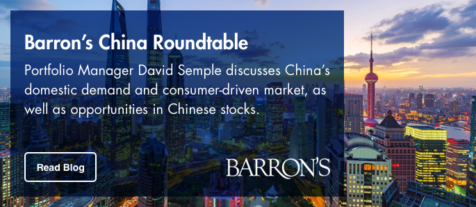 Read Portfolio Manager David Semple Barron's article about China