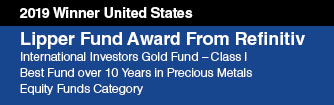 VanEck's International Investors Gold Fund Wins Lipper Fund Award for Sixth Consecutive Year