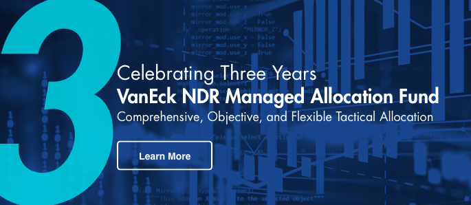 VanEck NDR Managed Allocation Fund 3 Year Anniversary